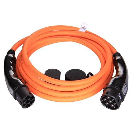 1-EV Type2 -> Type2 orange (3x32A) EV nabíjecí